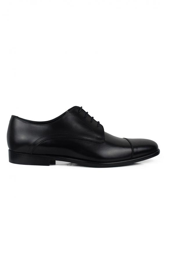 Luxury shoes for men - Black calfskin lace-up shoes