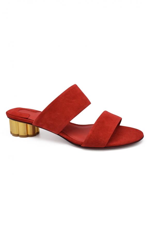 Luxury shoes for women - Salvatore Ferragamo in red suede