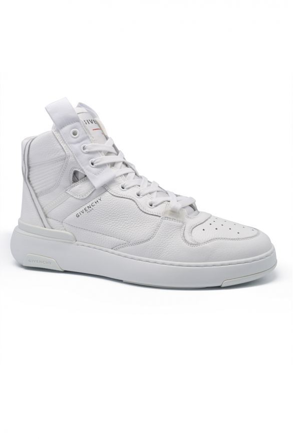 Men's luxury sneakers - Givenchy white high top Wing sneakers