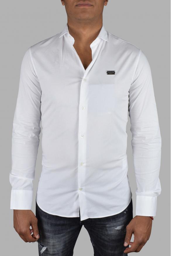 Luxury shirt for men - Istitutional Philipp Plein white shirt