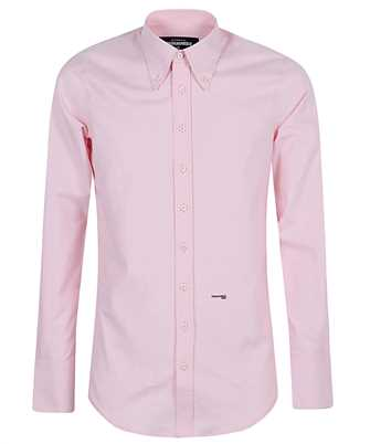 logo print button-down shirt