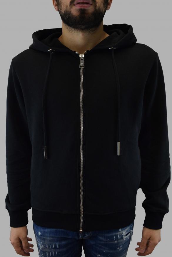 Men's designer hoodies - Philipp Plein  Skull  black Sweatjacket