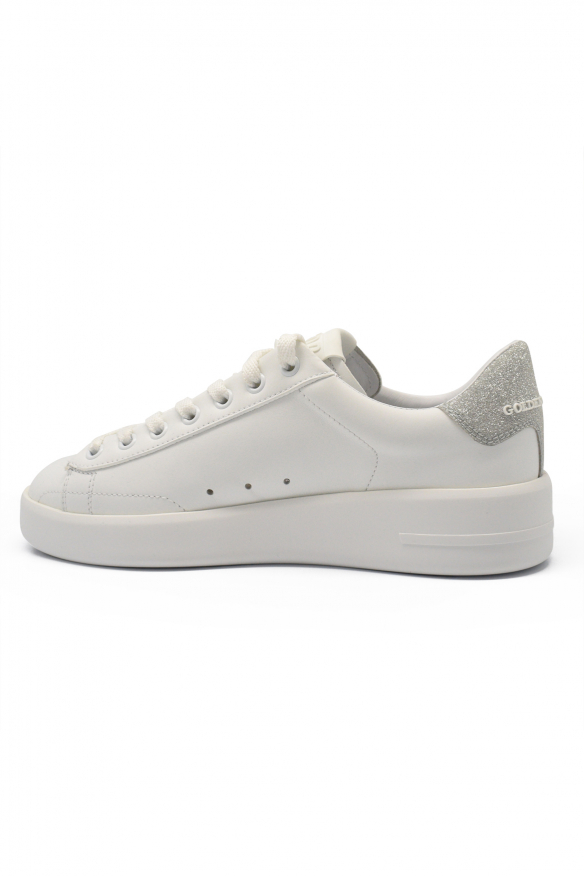 Women's luxury sneakers - Golden Goose Deluxe Brand sneakers Purestar model white and silver