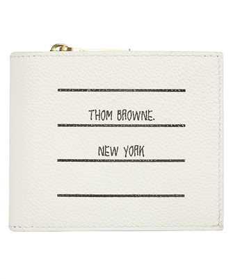 thom browne paper label printed pebble grain wallet