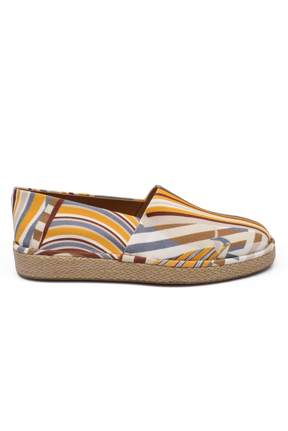 Men luxury shoes - Salvatore Ferragamo Lampedusa espadrilles in multicolored canva