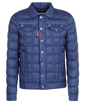quilted fitted puffer jacket