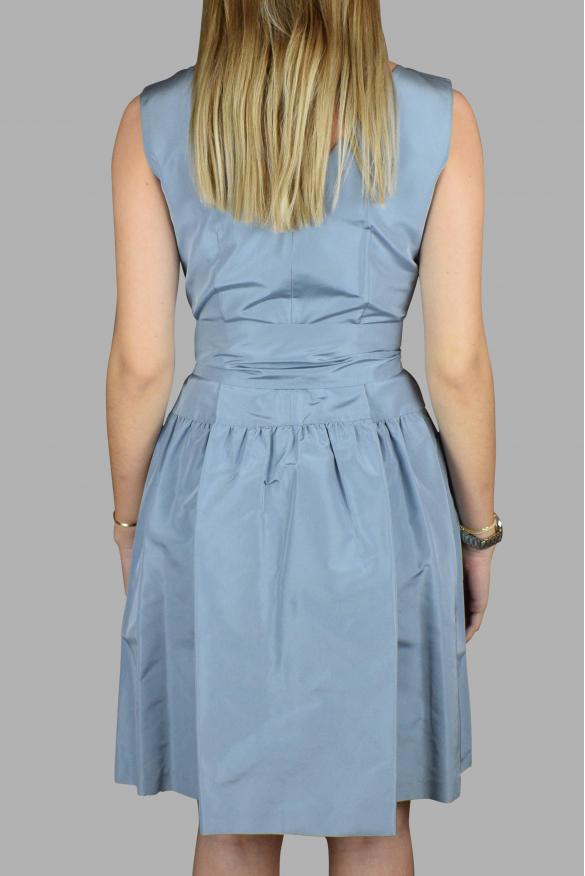 Luxury dress for women - Prada blue dress with belt