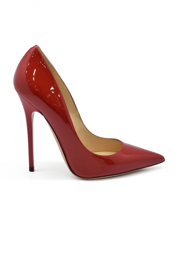 Luxury shoes for women - Jimmy Choo Anouk pumps in red patent leather