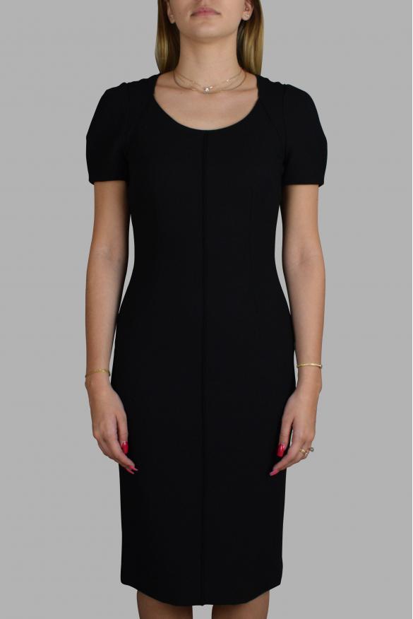 Luxury dress for women - Dolce & Gabbana black dress with short sleeves
