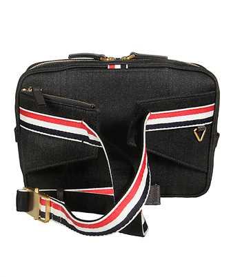 Thom Browne SHINY PAPER LABEL PRINT Belt bag