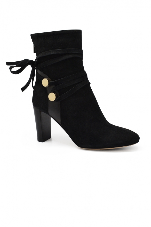 Luxury shoes for women - Jimmy Choo Houston 85 boots in black suede