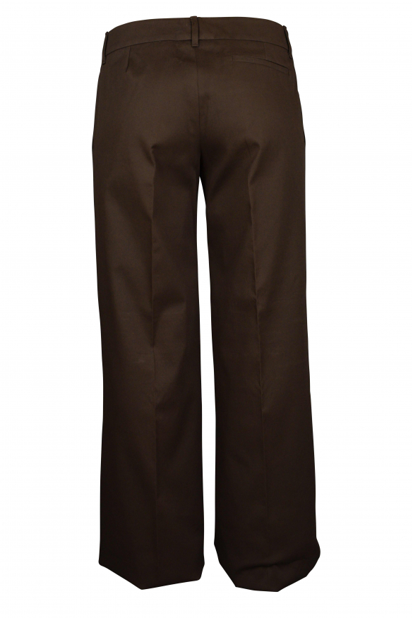 Luxury pants for women - Gucci brown pants with gold logo
