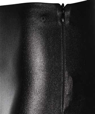 metallic faux-leather leggings