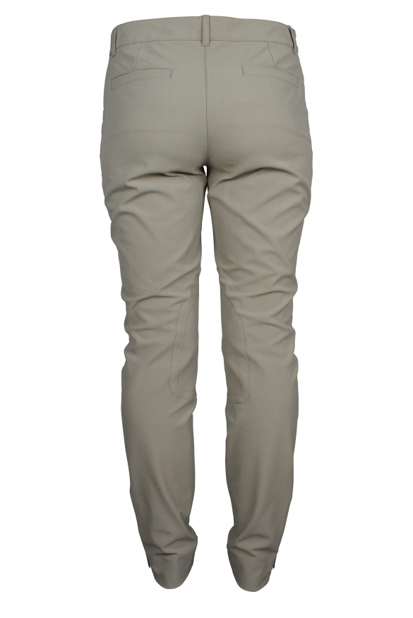 Luxury trousers for women - Dolce & Gabbana khaki trousers with inserts