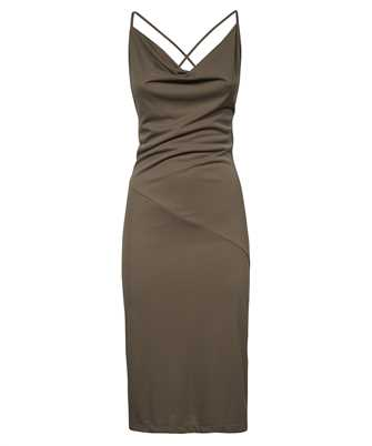 cowl-neck midi-dress