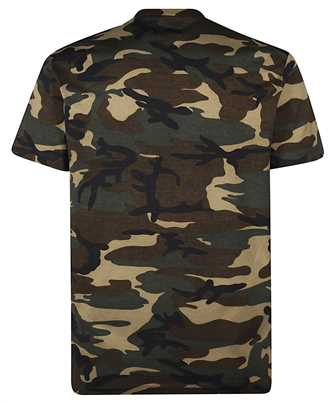 camouflage-print logo t-shirt