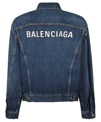 logo-embroidered denim jacket