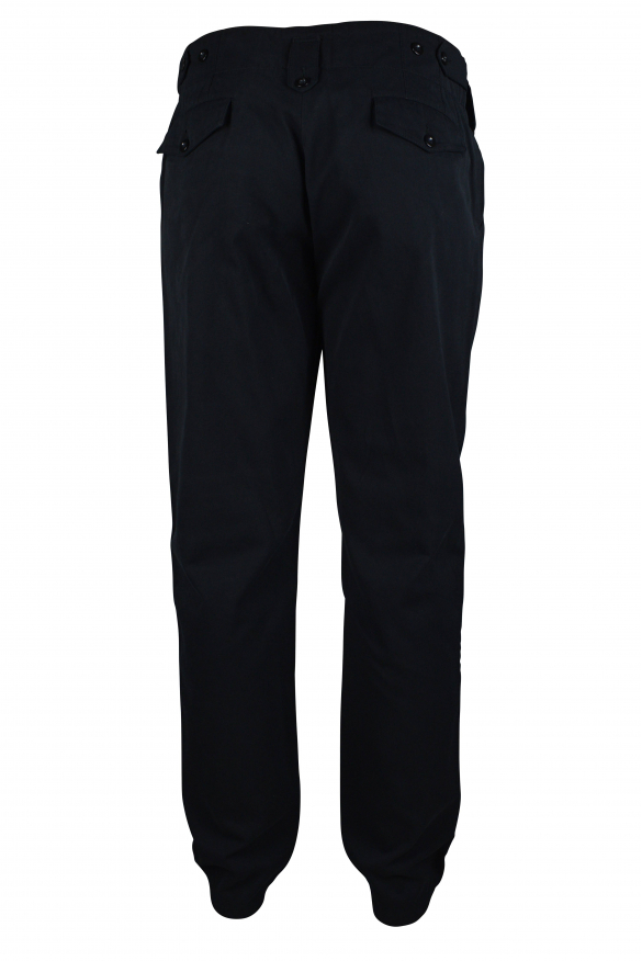 Luxury trousers for men - Dolce & Gabbana black trousers with button details