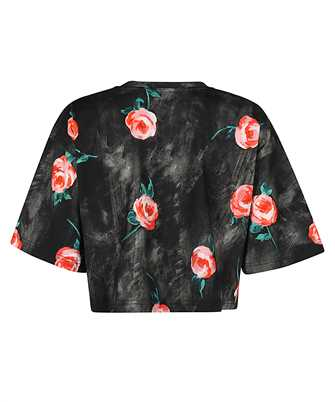 painted flowers cropped T-shirt