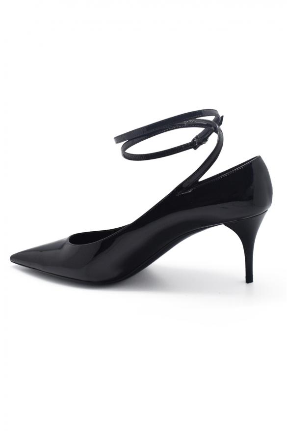 Women's luxury pumps - Saint Laurent Lexi model pumps in black patent leather 6.5 cm