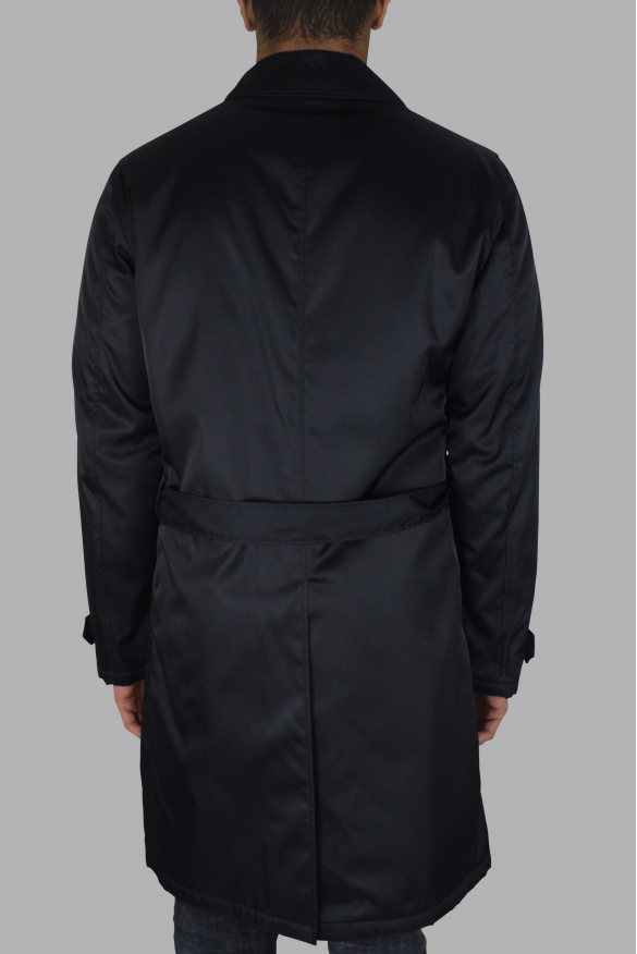Men's luxury coat - Prada black coat with belt