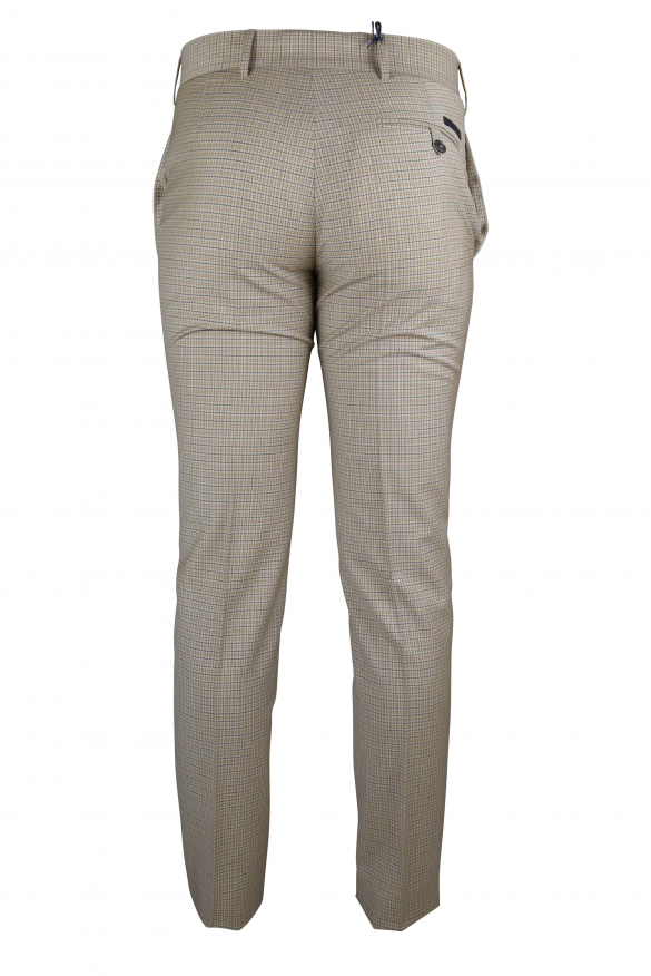 Luxury trousers for men - Prada brown trousers with small checks