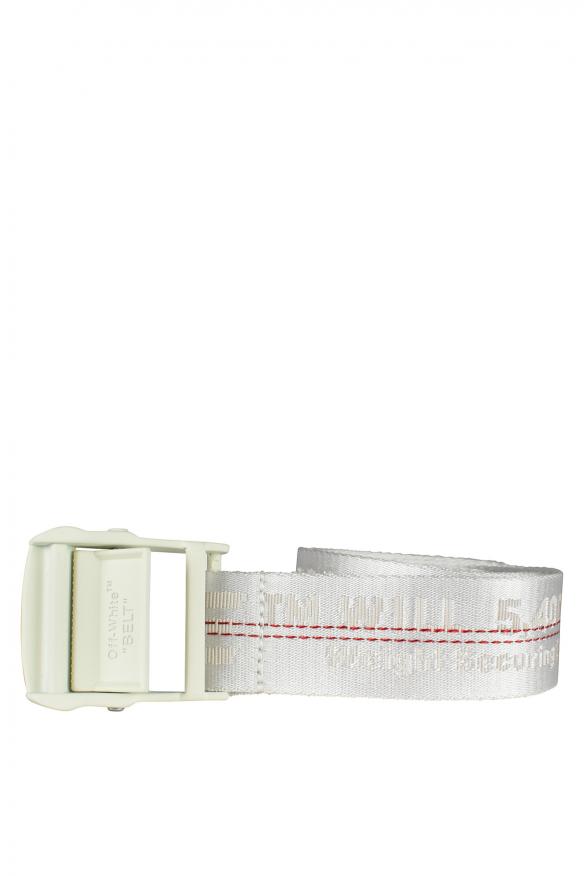 Luxury belt - Off-White white belt with logo