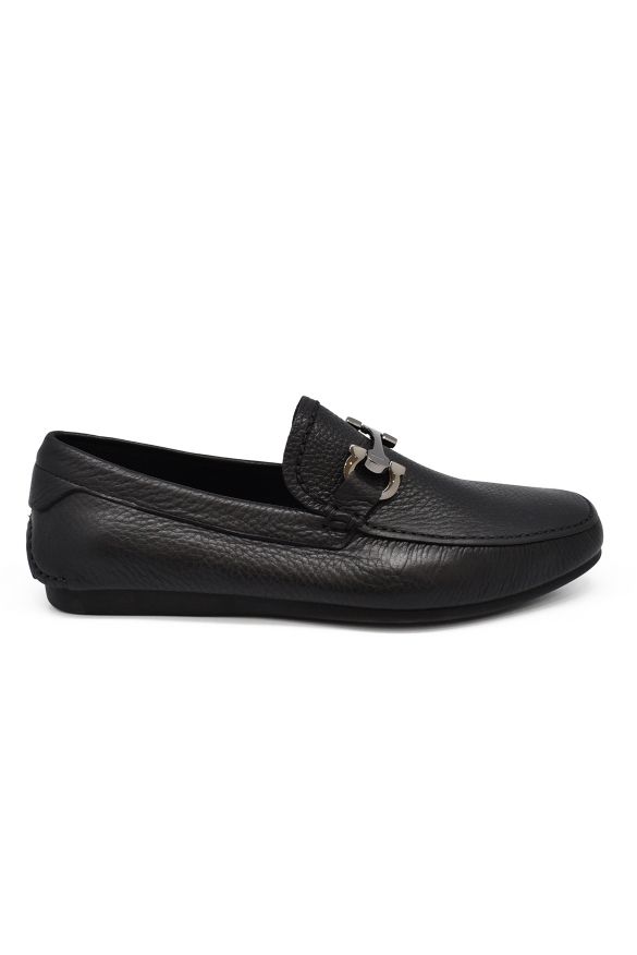 Men's shoes - Salvatore Ferragamo Gancini black leather loafers
