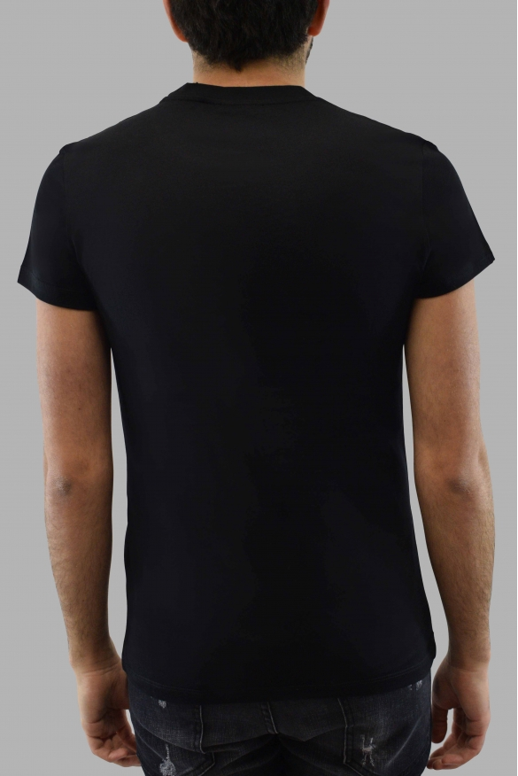Men's designer t-shirt - Balmain black t-shirt grey faded logo