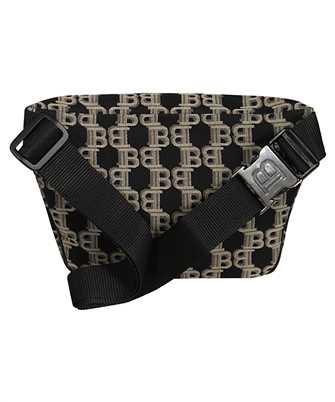 balmain jacquard monogram belt bag