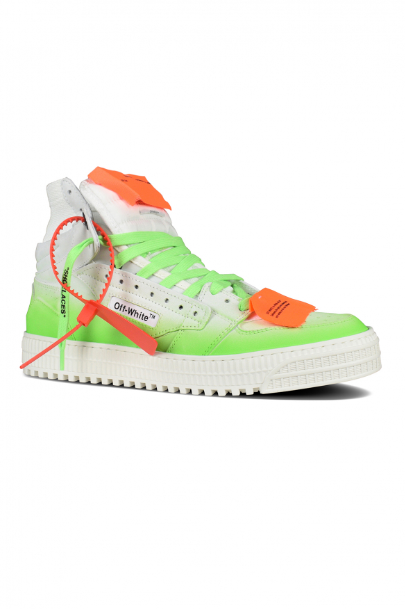 Luxury sneakers for men - Off Court 3.0 sneakers in white and green degraded leather