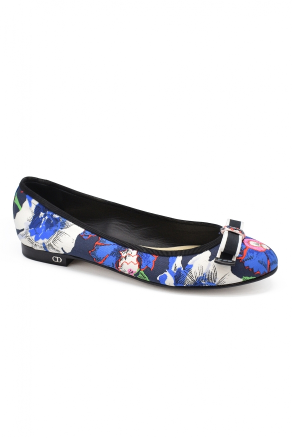 Luxury shoes for women - My Dior ballet flat in multicolor canvas