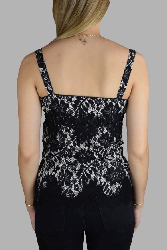 Women's luxury t-shirt - Dolce & Gabanna top with black and white pattern