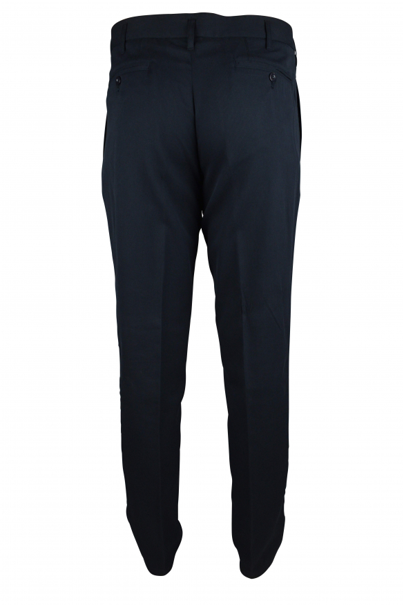 Luxury trousers for men - Dolce & Gabbana dark blue trousers