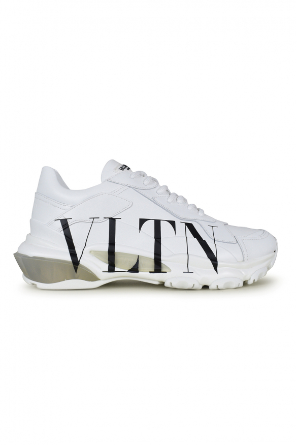 Women's luxury sneakers - Valentino Bounce model sneakers in white leather sole details