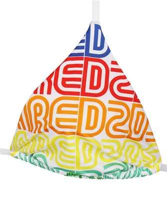 rainbow logo triangle bikini top