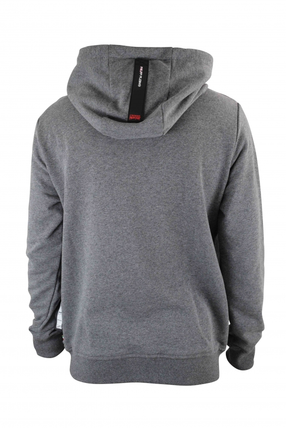 Men designer hoodies - Philipp Plein grey Hoodie Sweatshirt  Warning