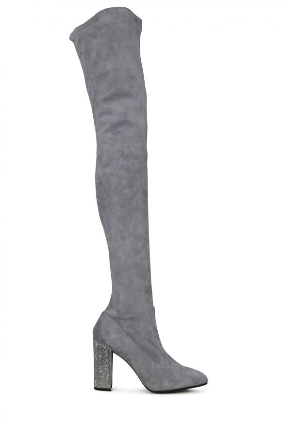 Women's luxury boots - Gray suede Rene Caovilla boots