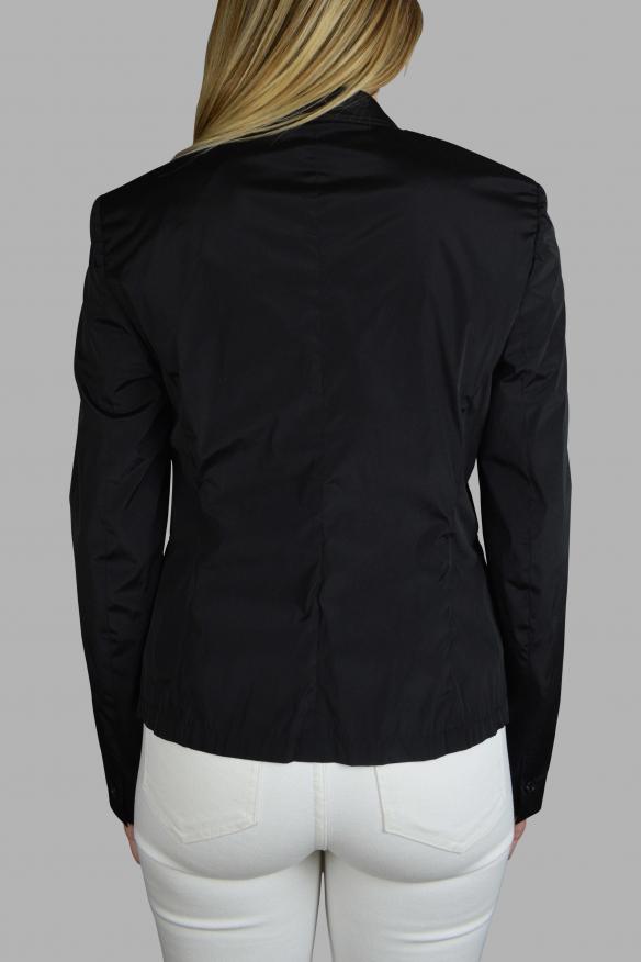 Women's luxury jacket - Prada black nylon jacket with pockets