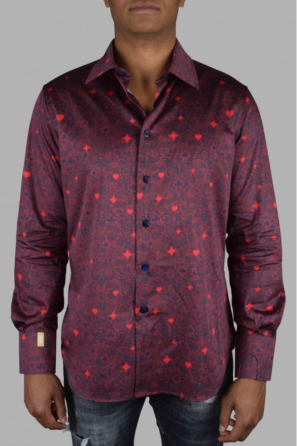 Luxury shirt for men - Milano Casino Billionaire burgundy shirt