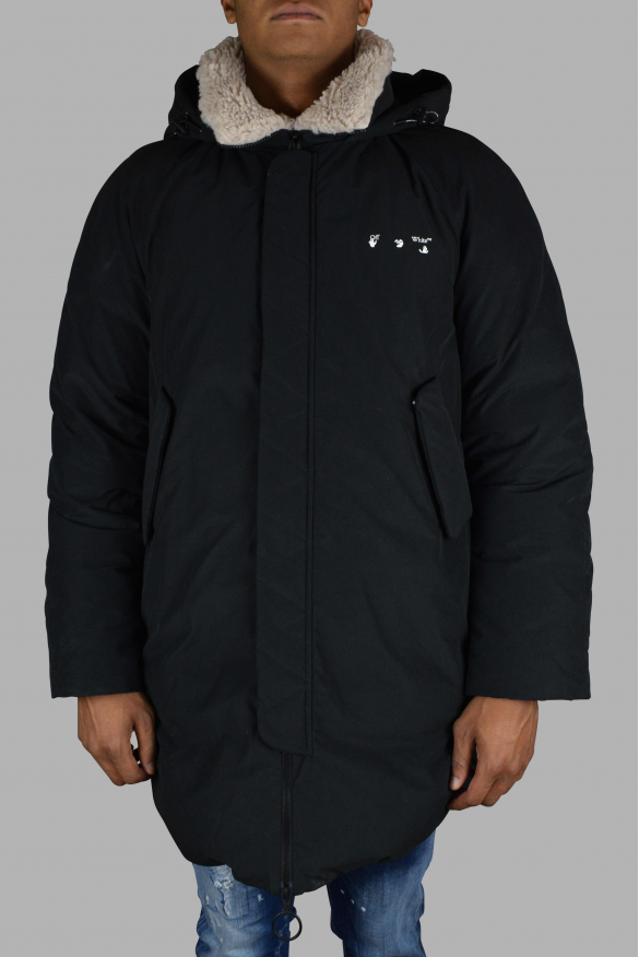 Men's luxury coat - Off-White black coat