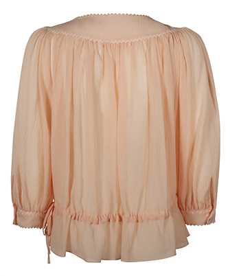 peplum hem gathered blouse