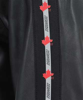 tape leather track jacket