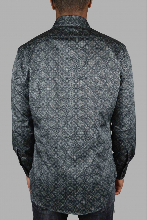 Luxury shirt for men - Milano Floral Billionaire gray shirt