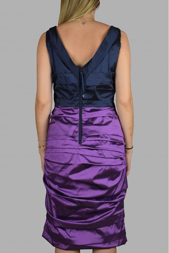 Luxury dress for women - Dolce & Gabbana navy blue and purple dress.