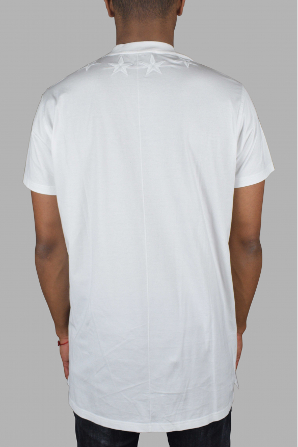 Men's luxury t-shirt - Givenchy white t-shirt with embroidered stars