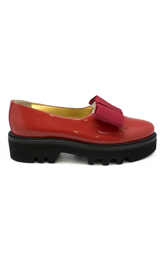 Luxury shoes for women - Walter Steiger Smoking red varnished shoes