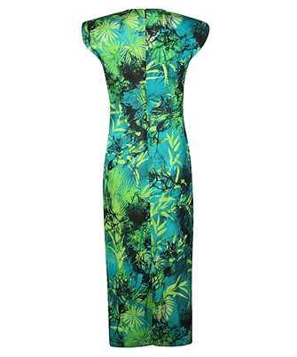 jungle print ruched sleeveless dress