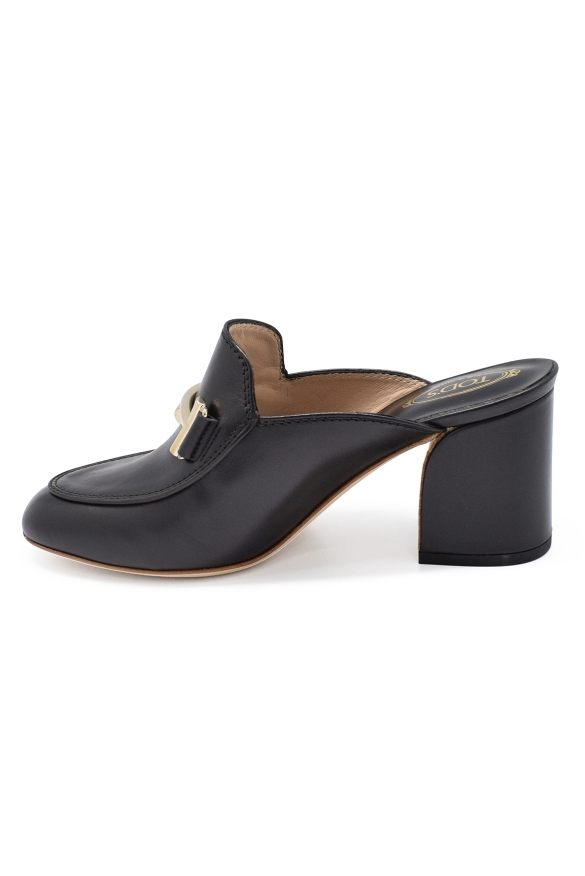 Luxury shoes for women - Tod's mules in black leather