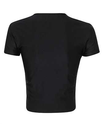 logo-patch metallic t-shirt